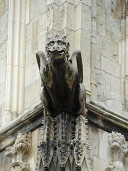 Gargoyle, Rain Gutter, Historically
