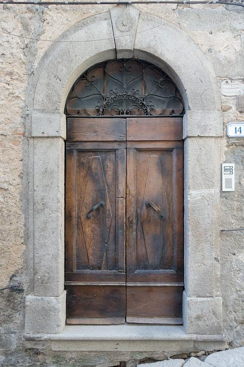 Door, Input, Wood, House Entrance