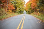 autumn, fall, road