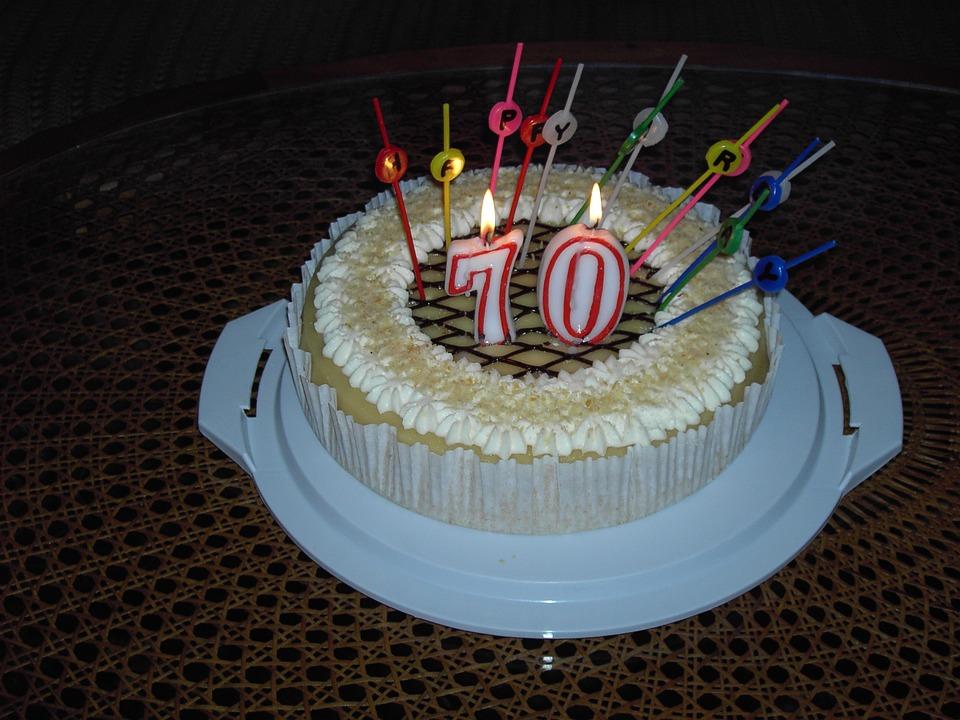 Torte Geburtstag 70 Kostenloses Foto Auf Pixabay
