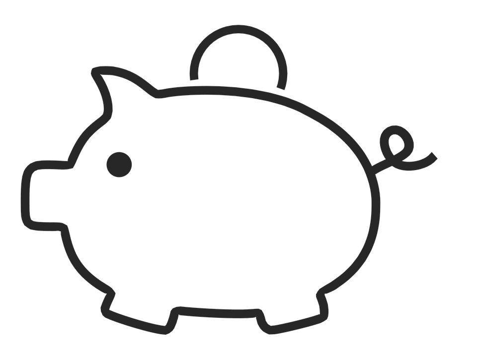 Line Drawing Piggy Bank : Piggy bank outline clip art