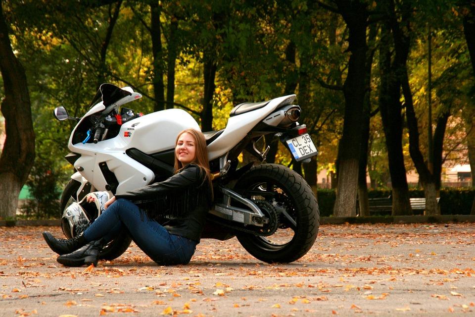 Free Photo Girl Motorcycle Leather Jacket Free Image