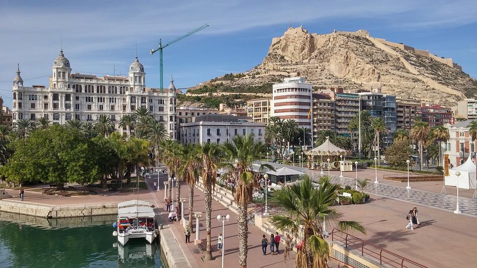 Castillo Santa Barbara, Alicante, Poort, Costa, Spanje