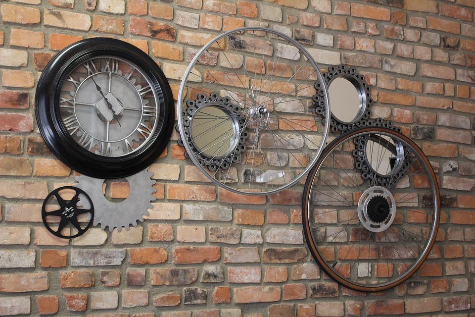 Brick Wall Art free photo: gears, wall art, brick wall art - free image on