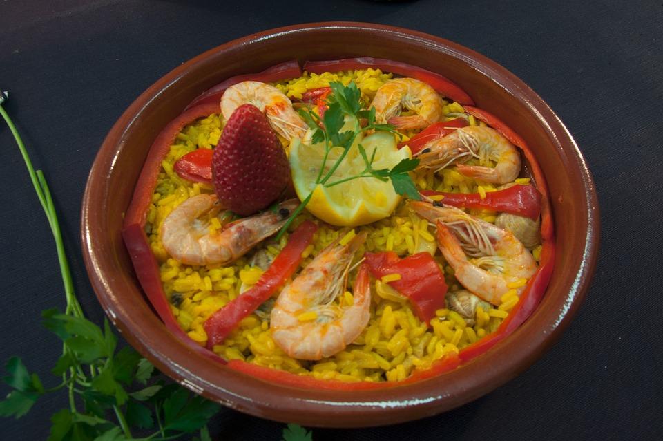 Casserole, Seafood, Paella, Food, Rice, Spanish Food