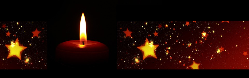 Kostenlose Illustration Banner Header Kerze Sterne