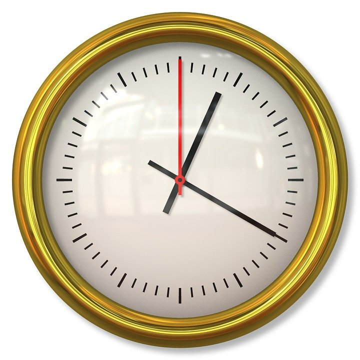 Free Illustration: Clock, Time, Minute, Hour, Second