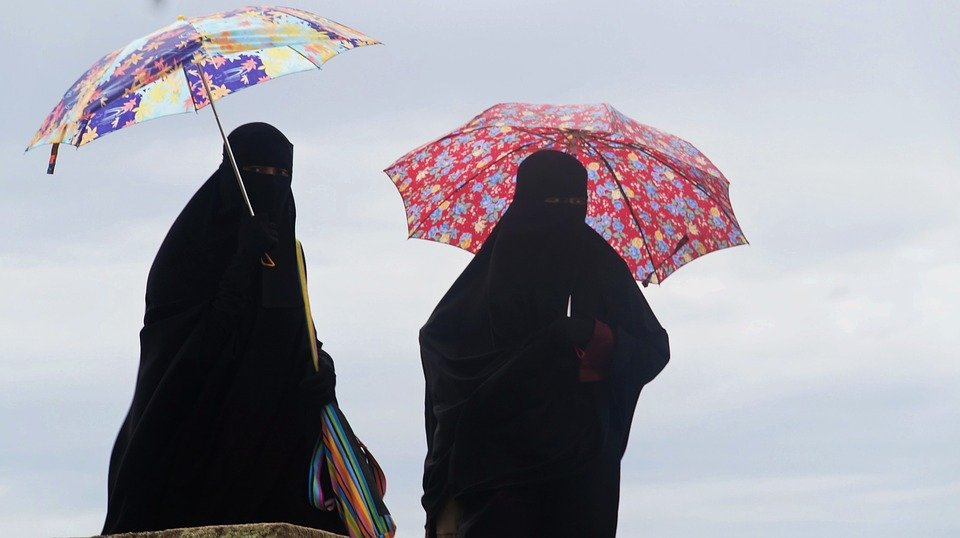 Burka, Umbrella, Disguise, Muslims, Niqab