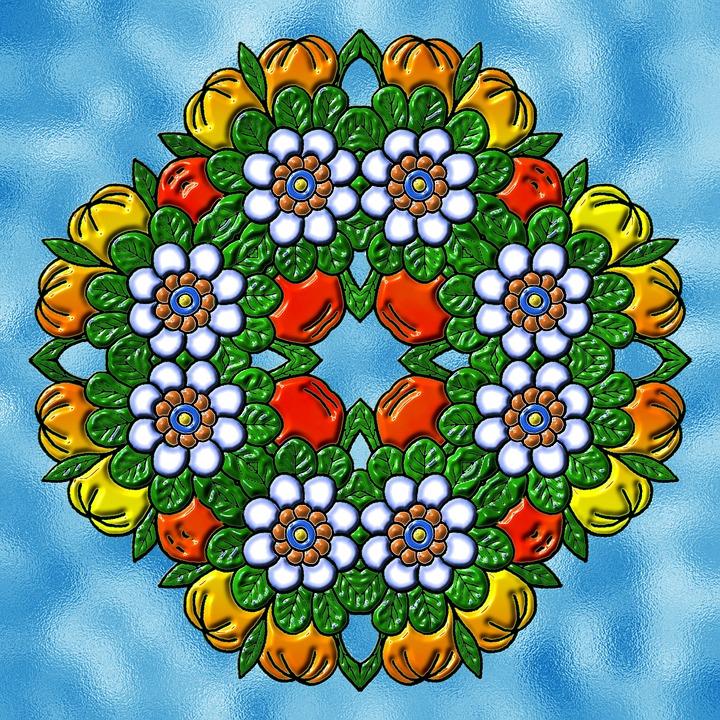 Mandala Hintergrund Bunt Kostenloses Bild Auf Pixabay