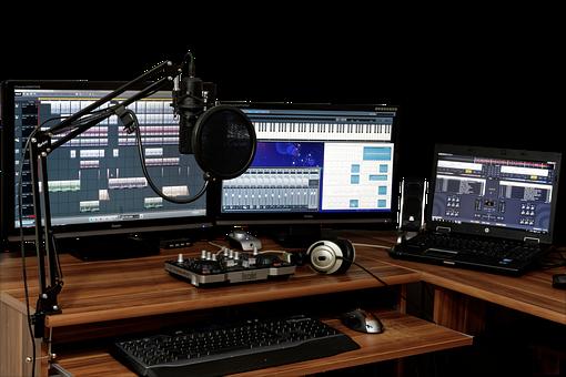 スタジオ, 音楽, ミキサー, オーディオ, コント ローラー, 音楽スタジオ
