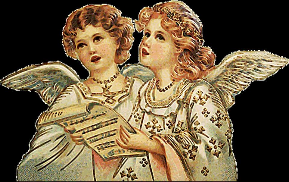 天使, 歌う, コラール, クリスマス
