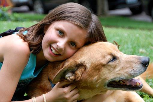 Girl Dog Love Pet Happy Cute Young Happy D