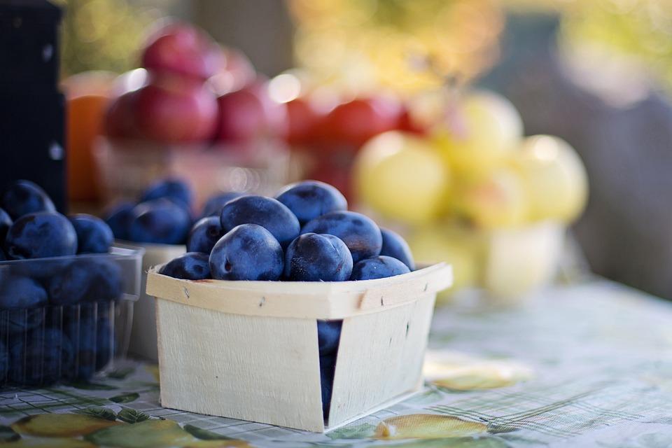 Frutta, Prugne, Mercato Della Frutta