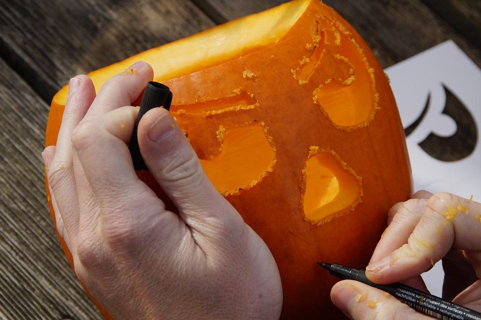 Kürbis, Halloween, Herbst, Orange, Gemüse, Aushöhlen