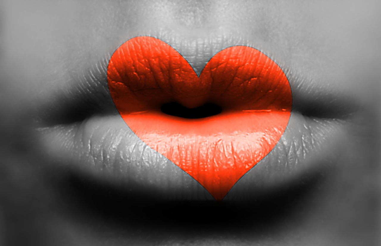 Поцелуй губы открытки