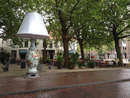 Art, Delft, Pays Bas, Lampe, Design, Rue