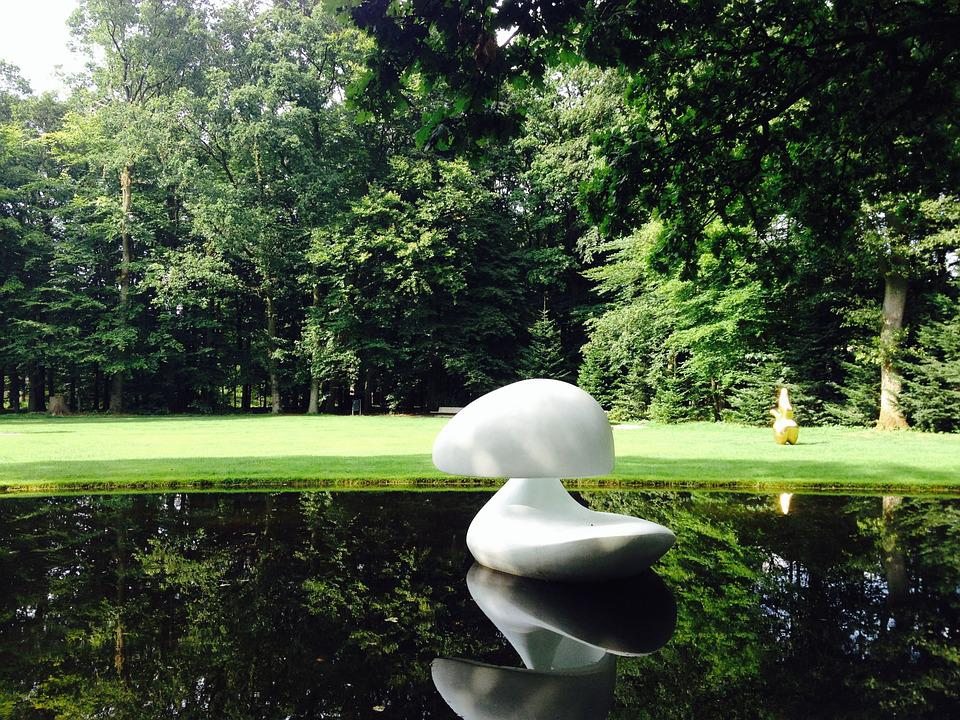 Marta Pan, Duck, Floating, Pond, Art, Water, Nature