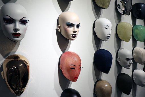 Hans Boodt, Mannequin, Visages, Masque