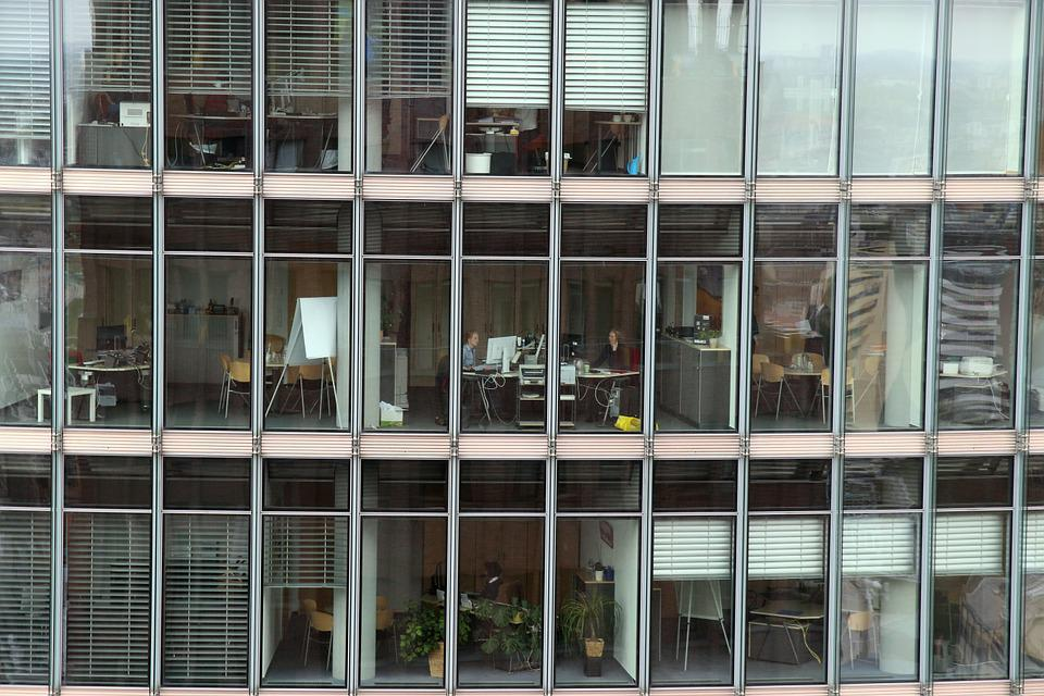 office glass windows. Office Complex Glass Facade Building City Windows