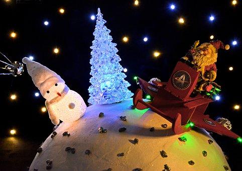 Scène De Noël, Santa, Santa Claus
