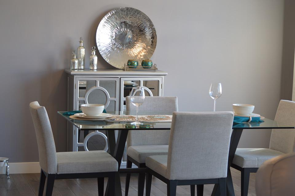 Dining Room, Table, Chairs, Decor, Furniture