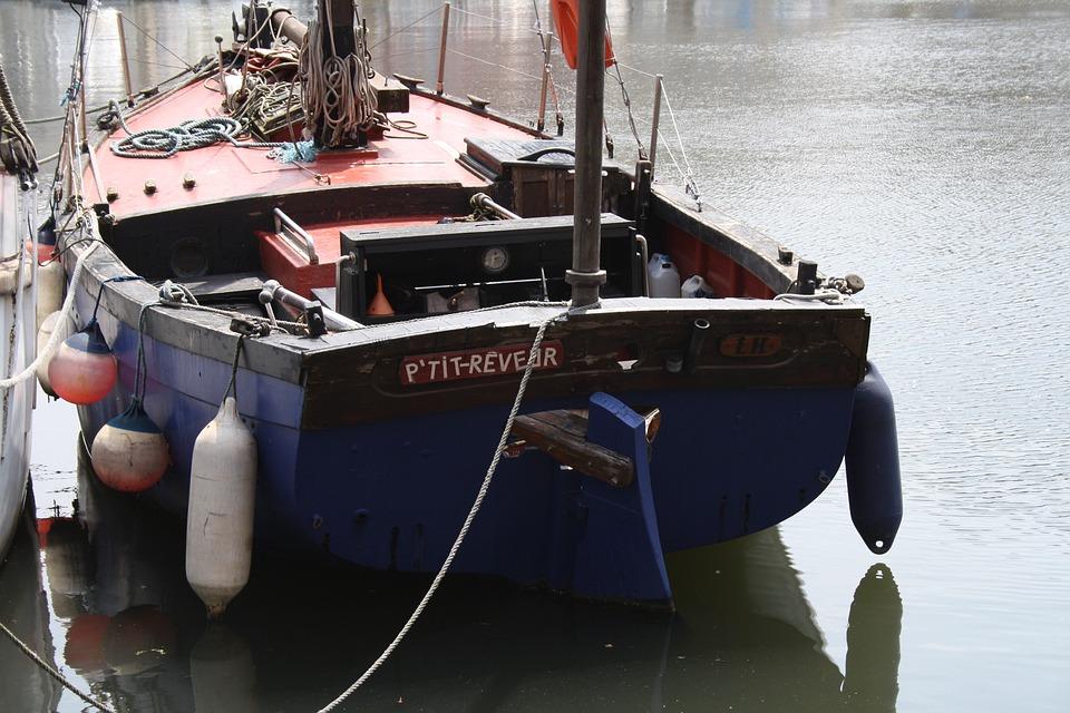 Barque, Bateau, Port, Honfleur, Quais, Embarcation