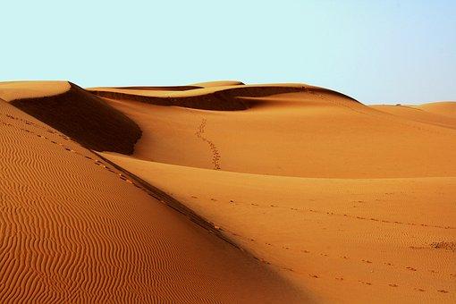 Desert, Africa, Bedouin, Footprints