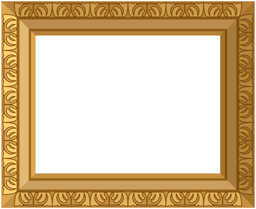 gold frame ornate antique design decoration