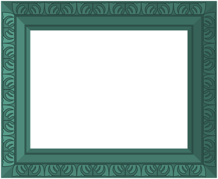 Green Frame Ornate · Free image on Pixabay
