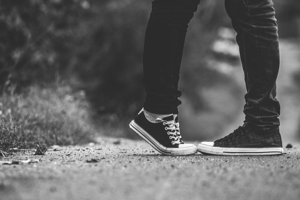 Feet tiptoe kiss free photo on pixabay - Black and white love pictures ...