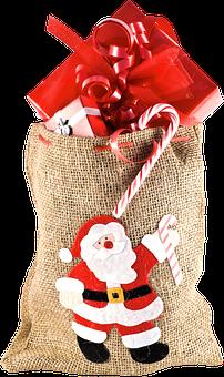 Isolated, Christmas Sack, Gifts