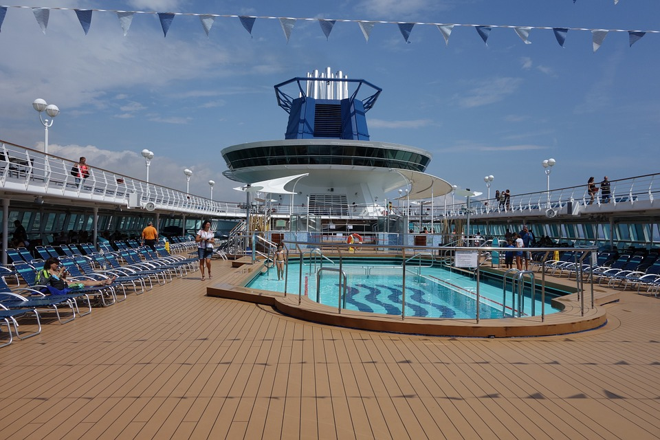 Pool on cruise ship