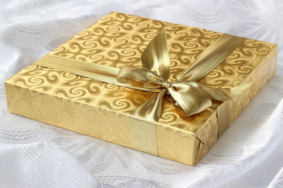 Gift covered with gold