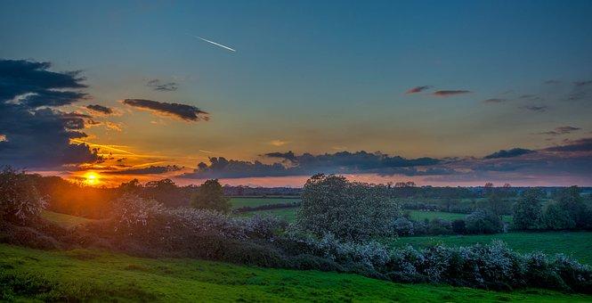 Sunset, Sunrise, Field