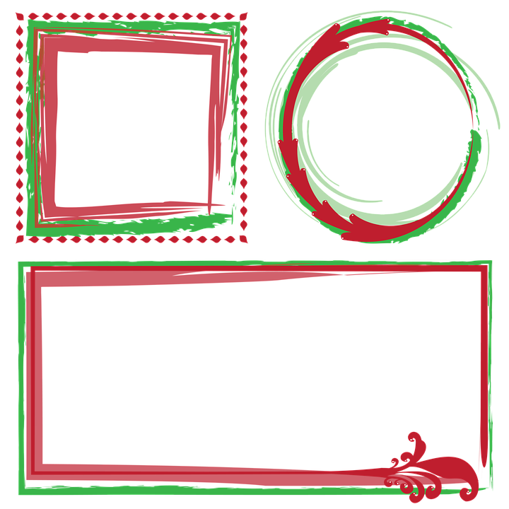 frames borders christmas frames decorative vectors