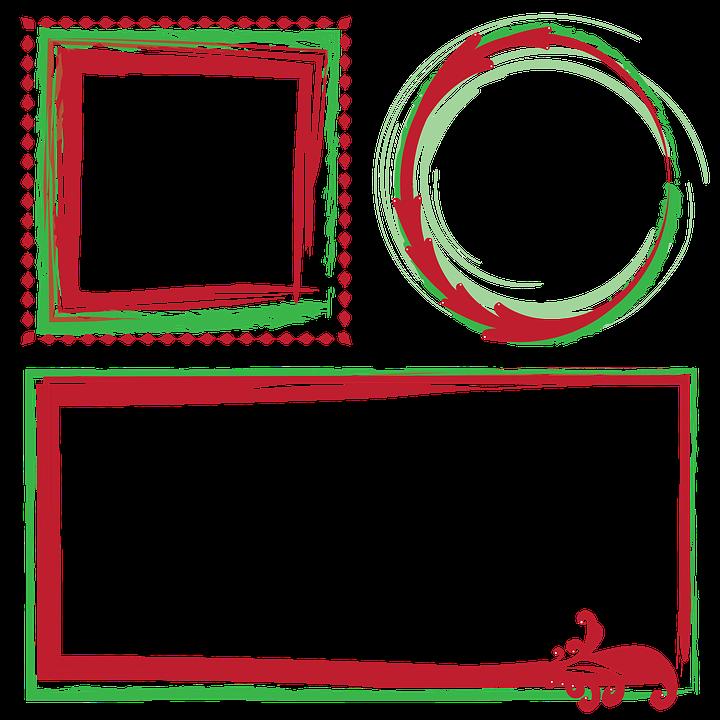 Frames Borders Christmas Decorative Vectors