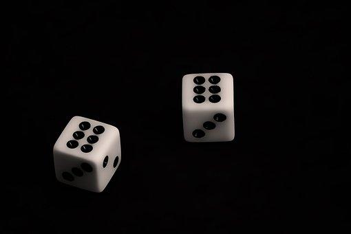 Dice, Gambling, Black, Chance, Risk