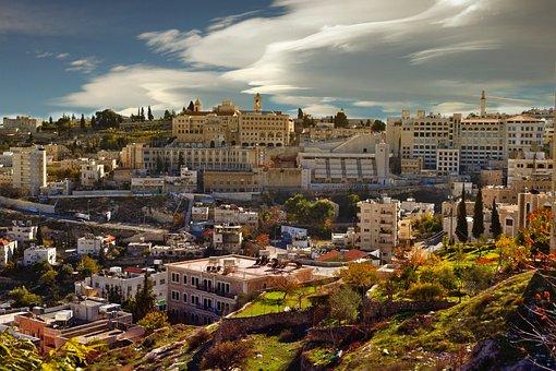 Bethlehem, Stadt, Häuser, Hügel, Ansicht