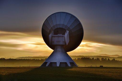 Raisting Sattelit Reception Signal Parabol