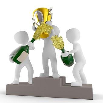 カップ, 勝利, 勝者, 賞を受賞, 金, 賞, 名誉, 挨拶
