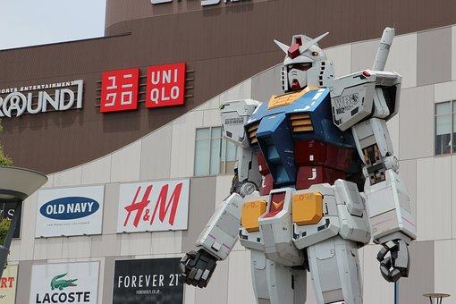 Gundam, Statue, Odaiba, Japan, Tokyo