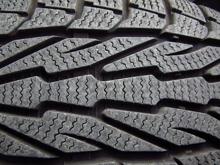 冬用タイヤ, 自動車タイヤ, プロファイル, 成熟した, 冬, ゴム, 自動