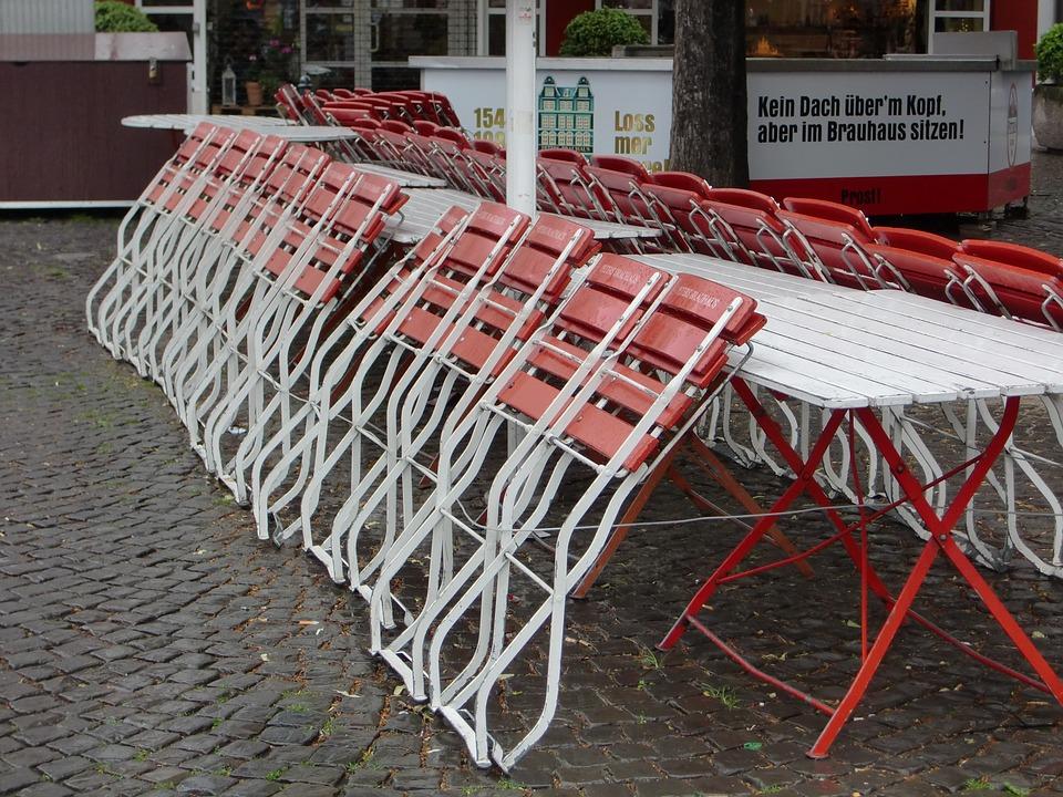 Pluie, Chaises, Rue Cafe, Siège, Cyber Café, Sur