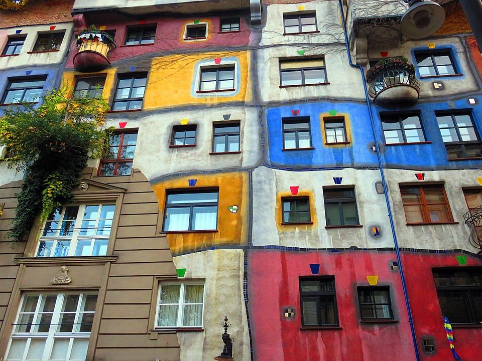 市 ウィーン 建物 色