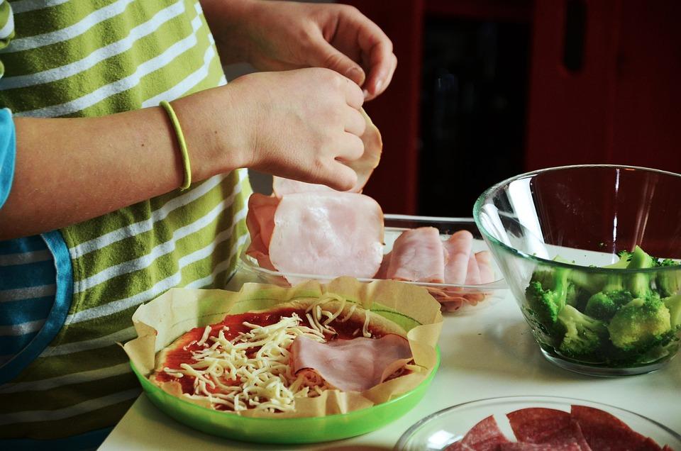 Pizza, Koken Met Kinderen, Bezetten, Preparaat, Koken