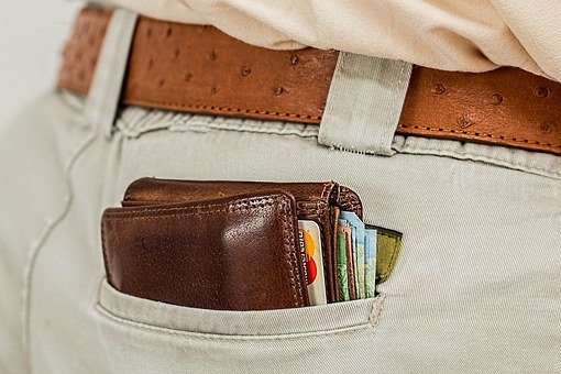 Wallet, Cash, Credit Card, Pocket, Money