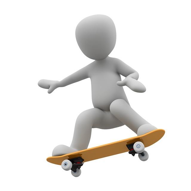 Skateboarding cartoon characters