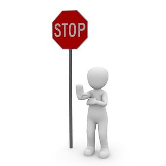停止, を含む, 道路標識, セキュリティ, 注意してください, シールド