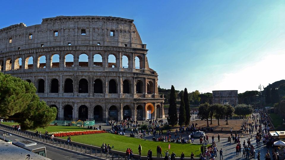 コロシアム、ローマ、イタリア、ローマ人、剣闘士、アリーナ