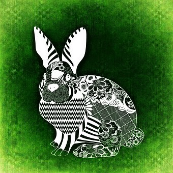 Hare, Easter, Abstract, Background